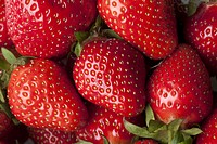 A heap of strawberries, full frame