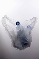 A plastic bag with two empty plastic water bottles (thumbnail)