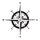 Grunge compass