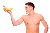 Mann mit Bananen