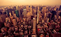 Bird Eye View Of Manhattan, New_York