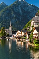 The picturesque village of Hallstatt in the Salzkammergut, Austria, Europe