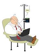Chemo chair, illustration