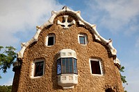 House in Guell park, Barcelona, Spain