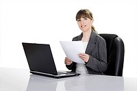 Bussiness woman working