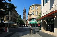 D-Krefeld, Rhine, Lower Rhine, Rhineland, North Rhine-Westphalia, NRW, city church Saint Dionysius, catholic church, classicism, Rheinstrasse, Rhine S...