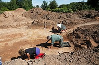 D-Krefeld, Rhine, Lower Rhine, Rhineland, North Rhine-Westphalia, NRW, urban archaeology of Museum Castle Linn, excavations in Krefeld-Elfrath, projec...