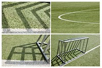 football goal collage