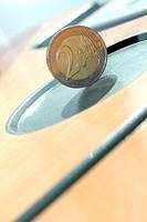 two euro coin