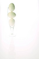 Three Eggs in a glass