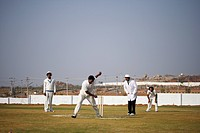 A game of cricket in progress