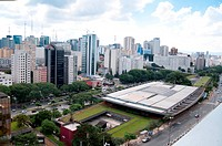 aerial view of the cultural center of sao paulo