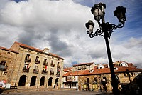 Main square of Reinosa, Cantabria, Spain