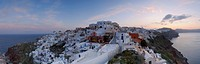Greece, View of Oia village at Santorini (thumbnail)