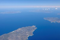 Greece, View of Island of Ios and Sikinos at Aegean sea