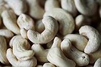 Full frame of cashew nuts