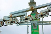 detail of ski lift
