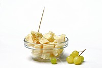 Parmesan cheese, glass bowl