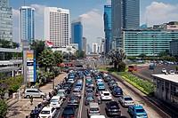 Traffic, Jakarta, Java, Indonesia, Southeast Asia