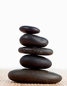 A black stones stack