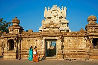Kailasanatha temple dating from 8th century, Kanchipuram, Tamil Nadu, India, Asia