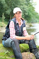 Closeup of fisherwoman