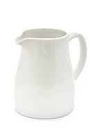 white ceramic jug over white