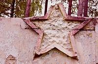 soviet military symbols ruins