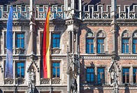 Munich City Hall with Flags