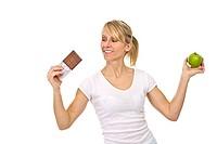 Schokolade oder Obst