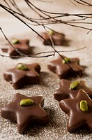 Chocolate with pistachio