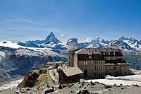 Switzerland, Canton Valais, Zermatt, Gornergrat, Kulmhotel Gornergrat