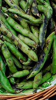 Fava beans at a farmers´ market
