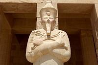 Osirian statue at Deir el_Bahri temple, Luxor