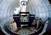 BTA 6_metre telescope in its dome. This optical telescope the BTA_6, Bolshoi Teleskop Azimutalnyi, or Large Altazimuth Telescope has an altazimuth mou...