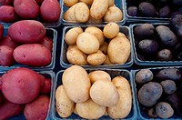 Eastern Shore Virginia potatoes at a farmer's market