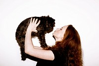 Kissing the dog