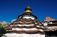 Famous landmark of Gyantse Baiju lamasery in Tibet