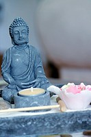 Zen buddha and table
