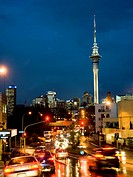 Central Auckland city at night