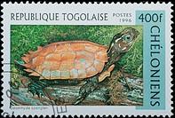 REPUBLIQUE TOGOLAISE _ CIRCA 1996: stamp _ animal reptile turtle