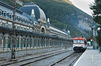 Canfranc train station  This train station is in north of Spain, in Pyrenees of Huesca, and in the past was the station that conect Spain with France ...