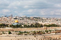 The modern city of ancient Jerusalem.