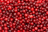 Cranberries put by background