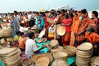 Handicraft shop on a village fair at Gopalgonj, Bangladesh