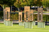 Oklahoma City, Oklahoma, USA  National Terrorism Memorial, Chairs Honoring Those Killed