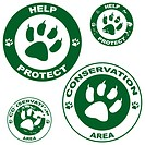 Conservation stickers