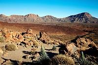 Las Cañadas, El Teide National Park, Tenerife, Canary Island, Spain.