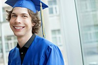 Portrait of graduate in cap and gown