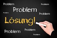 Problem / Lösung _ Business Konzept Erfolg